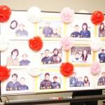 新入団生と家族の写真も飾られていました。