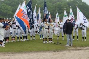 珍しい、渡邉と中川による選手宣誓