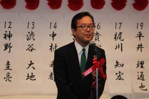 藤尾代表から14期生に祝辞