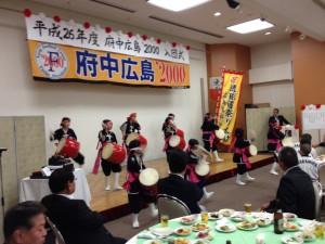 琉球國祭り太鼓の皆さんが 祝ってくれました